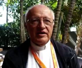 Mons. Eugenio Scarpellini después de concluir el V CAM - Bolivia