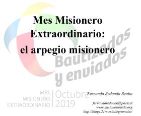 Mes Misionero Extraordinario: el arpegio misionero