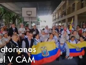 Delegación Ecuatoriana participando en el V CAM